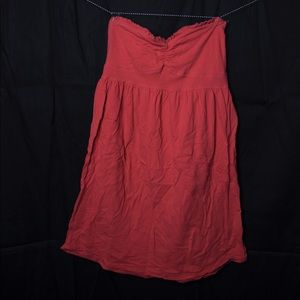 Red Strapless Mini Skater Dress
